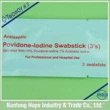 swabstick esterilizado descartável do iodo da povidona