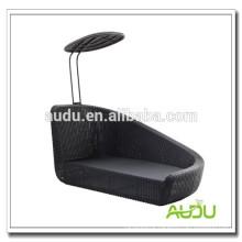 Audu Aluminium Outdoor Rattan Beach Chair Sun Shade