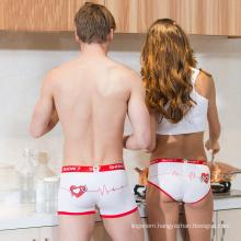Whosale sweat couple men's and women's cotton mid-waist pants underwear