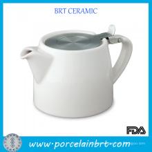 Tetera de cerámica con infusor de acero inoxidable