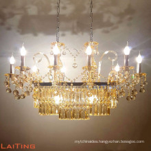 American style wedding tent crystal chandelier lamp made in China 81029