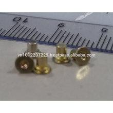 Micro tornillo, sujetador, Pin de remache de metal y pieza de forja en frío