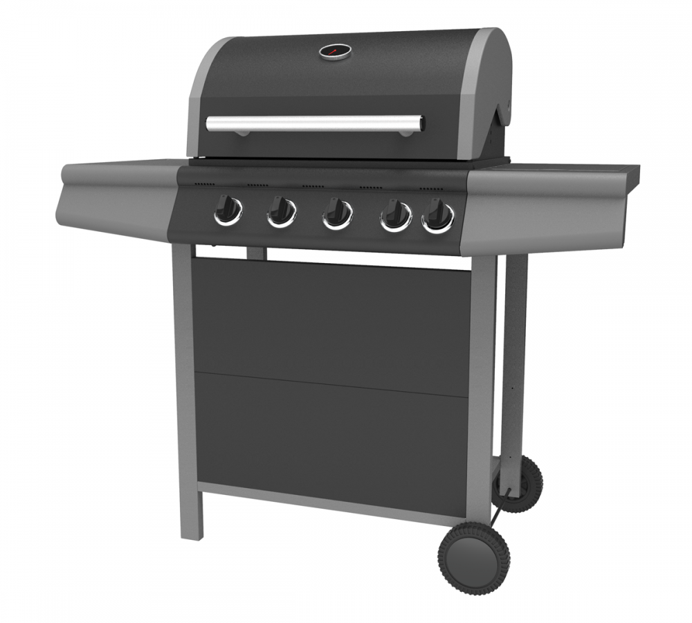 Double Layer Hood Gas Barbecue Grill