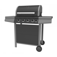 Four Burner Double Layer Hood Gas Grill