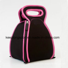 Customized Fold Neoprene Lunch Picnic Cooler Bag with Zipper Closed