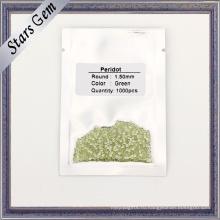 1.5 mm малый размер зеленый перидот натуральный драгоценный камень