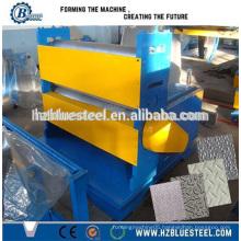 Aluminium Iron Metal Stainless Steel Sheet To Sheet Embossing Machine , Color Glavanized Steel Embossed Pattern Machinery