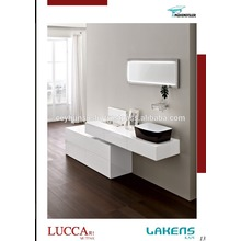 Nouveau design moderne Batroom Vanity Glossy Lacwareed Drawer Cabinet and Countertop