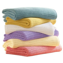 Factory Wholesale 100 cotton Yarn Dyed leno blanket
