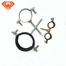 Abrazadera de tubo de acero al carbono de tamaño simple / doble size14 / 18/22/28/32/40/50 sin goma