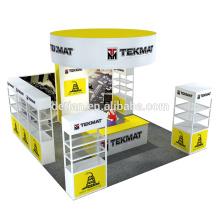Detian offre 6x6m stand d'exposition stand d'exposition stands avec étagère