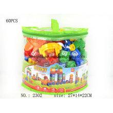 una bolsa de plástico letra número aprendizaje bloques de construcción juguetes