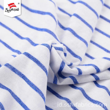 Disesuaikan Soft Hand Feel Polyester Stripe Fabric