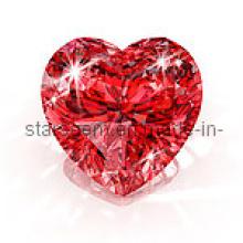 Brillante forma de corazón CZ piedras preciosas piedra