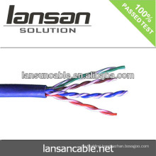 Cat5e cable UTP CCA 4pair 26AWG 0.4mm networking cable best quality and factory price