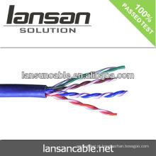 Cat5e cabo UTP CCA 4pair 26AWG cabo de rede 0.4mm melhor qualidade e preço de fábrica