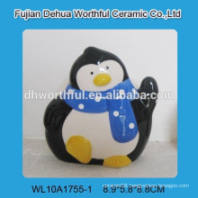 Ceramic decoration penguin napkin holder for restaurant