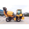 Self-feeding cement mixing engineering work vehicle
