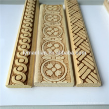Wood Decorative Embossed Wood Moulding Trim White Wood Moulding