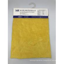 Knitted Velvet Fabric Width 160cm 100T Yellow Fabrics