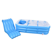 Tragbare aufblasbare SPA-Badewanne L-förmiges Kissen