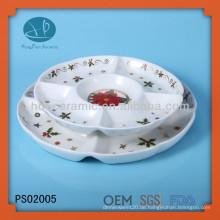 Weihnachten, maßgeschneiderte Servierplatte mit Abziehbild, Keramikplatte für Heimatrestaurant
