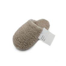 Winter cotton slippers with simple design Non-slip indoor slippers Light and comfortable plush slippers