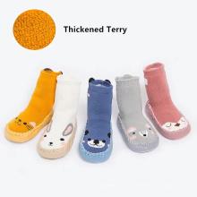 Winter cartoon baby socks non-slip Leather Sole children floor sock