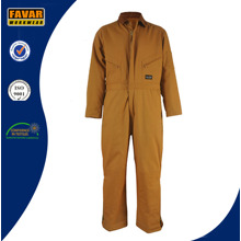 China Supplier Durable Cotton Canvas Cold Weathear Windproof Padded Coverall