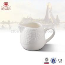Wholesale pot à lait en céramique de chaozhou, crème à café en porcelaine