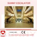 Curved Escalator Escalera mecánica espiral / helicoidal para centro comercial y edificios comerciales
