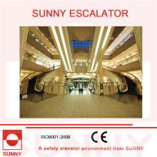 Escada rolante curvada espiral / escada rolante helicoidal para o centro comercial e os edifícios comerciais
