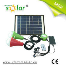 Built-in Lithium Battery LED Solar home lighting kit with cellphone charger