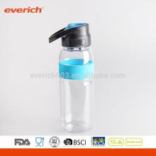 2016 Botella de agua plástica de los deportes de la pared simple BPA libremente