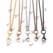 Personalizado Lockets / Charms / pingente de aço inoxidável Rolo cadeia colar (CSC60103)