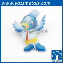 lindos dibujos animados pájaro insignias labios niños regalos