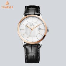 Luxuxmarken-Mann-Quarz-Uhr-echtes Leder-wasserdichte beiläufige Armbanduhr für Geschäft 72687