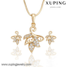 63916 Xuping new design charm gold plated jewelry sets