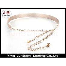 Women Gold / Silver Full Metallic Bling Mirror Plate Belt