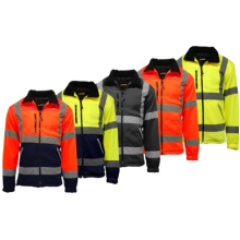 Safety Hi Vis Viz Visibility Lined Work Fleece Jacket