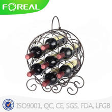 Neko 7 Bottles Bronze Metal Wine Rack