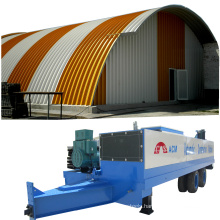 ABM k q span SX-1000-610 hydraulic curved roof zinc-coating steel storage building machinery arch roof building machine
