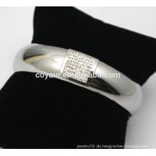 Rhinestone Armband Armbänder Schmuck glänzend Stahl Silber Rhinestone Armreifen