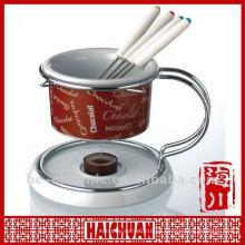 Quemador de fondue de cerámica, fondue de chocolate de cerámica