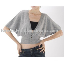 women's short sleeve cashmere cardigan