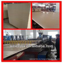certificado de ce de la calidad de la madera compuesto de plástico wpc tablero de la espuma que hace la máquina