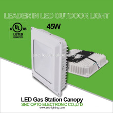 2016 new design DLC listed 45w LED gas station light,45w canopy light outdoor light 45W/75w IP65 UL CUL approved