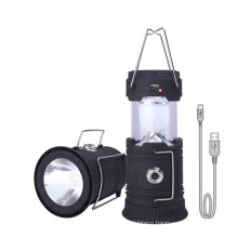 Solar Camping Light USB Rechargeable Outdoor Survival