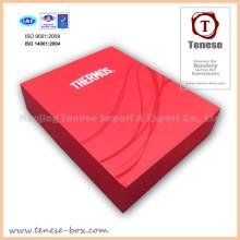 Caixa de embalagem de presente de papelão de luxo vermelho para comida