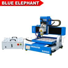Jinan azul elefante desktop móveis mesa cnc router ele4040 metal fresadora com mach3 usb